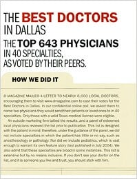D Magazine Best Doctors in Dallas 2006