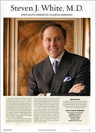 D Magazine Top Docs featured Dallas Plastic Surgeon Steven White MD