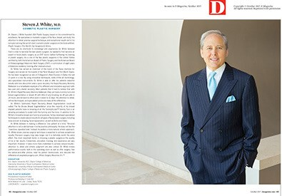 D Magazine 2017 Top Doctor Steven J. White, M.D.
